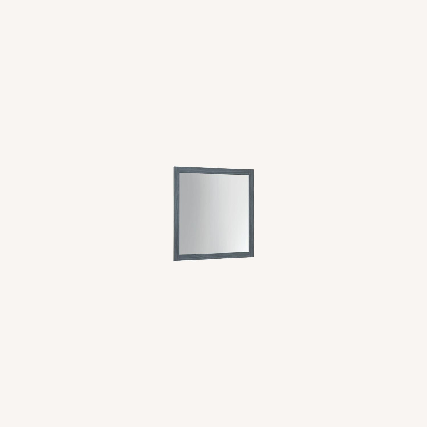 Modern Mirror In Dark Grey Oak Finish - image-3