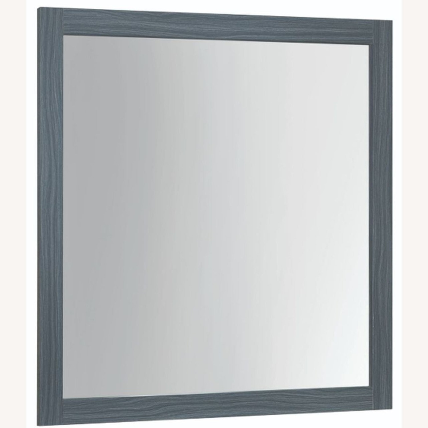Modern Mirror In Dark Grey Oak Finish - image-0