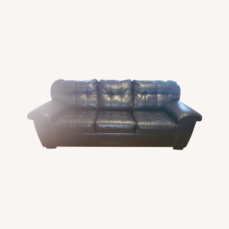 Picture of: Bob S Furniture Black Sleeper Sofa Aptdeco