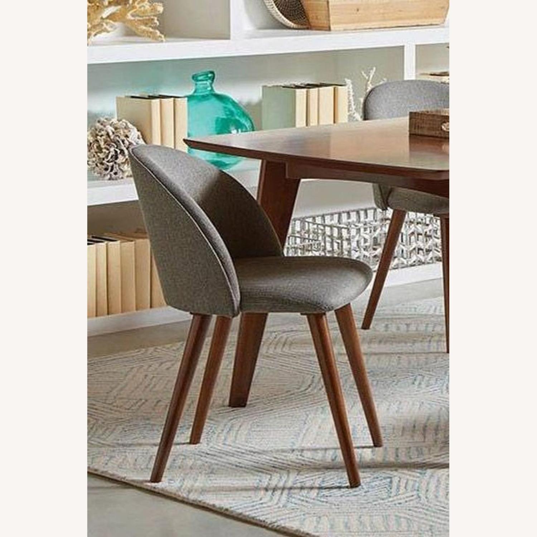 Mid-Century Side Chair In A Dark Walnut Finish - image-3