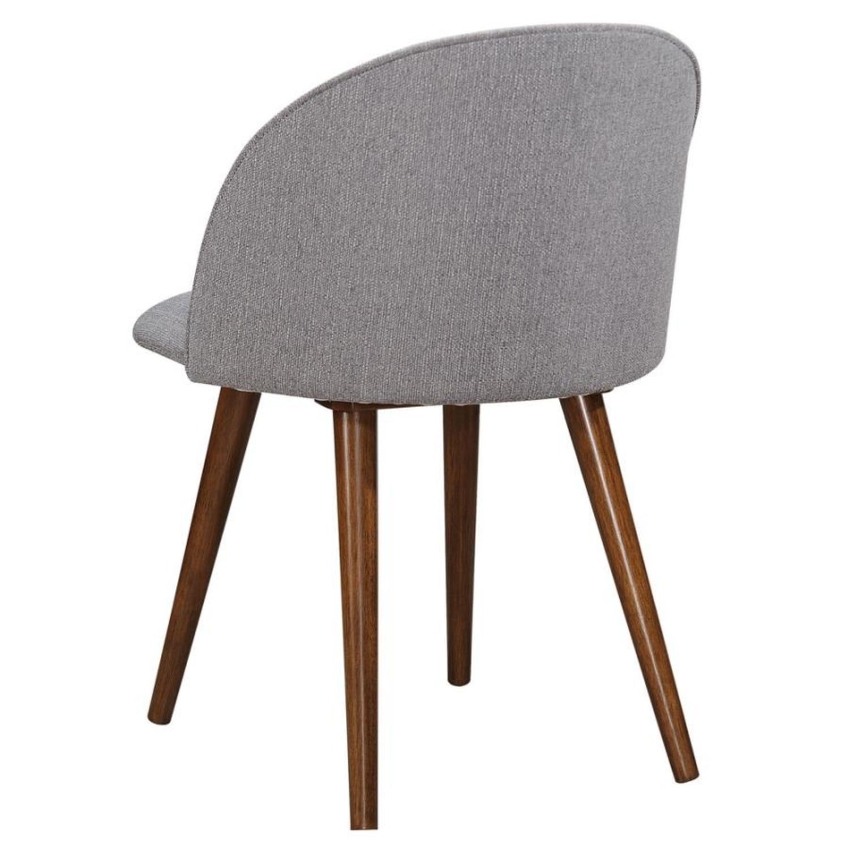 Mid-Century Side Chair In A Dark Walnut Finish - image-2
