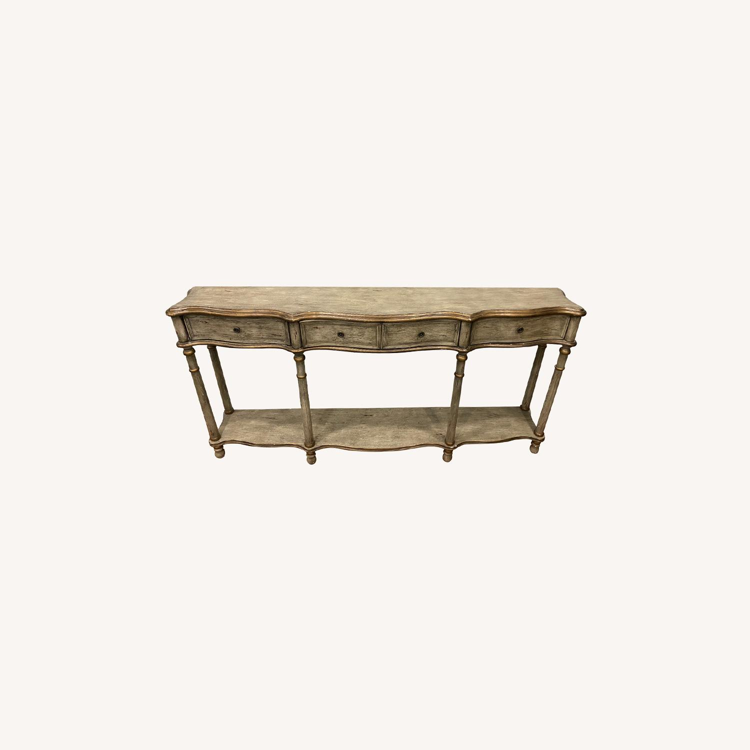 Crestview Collection Victoria 3 Drawers Console Table - image-0