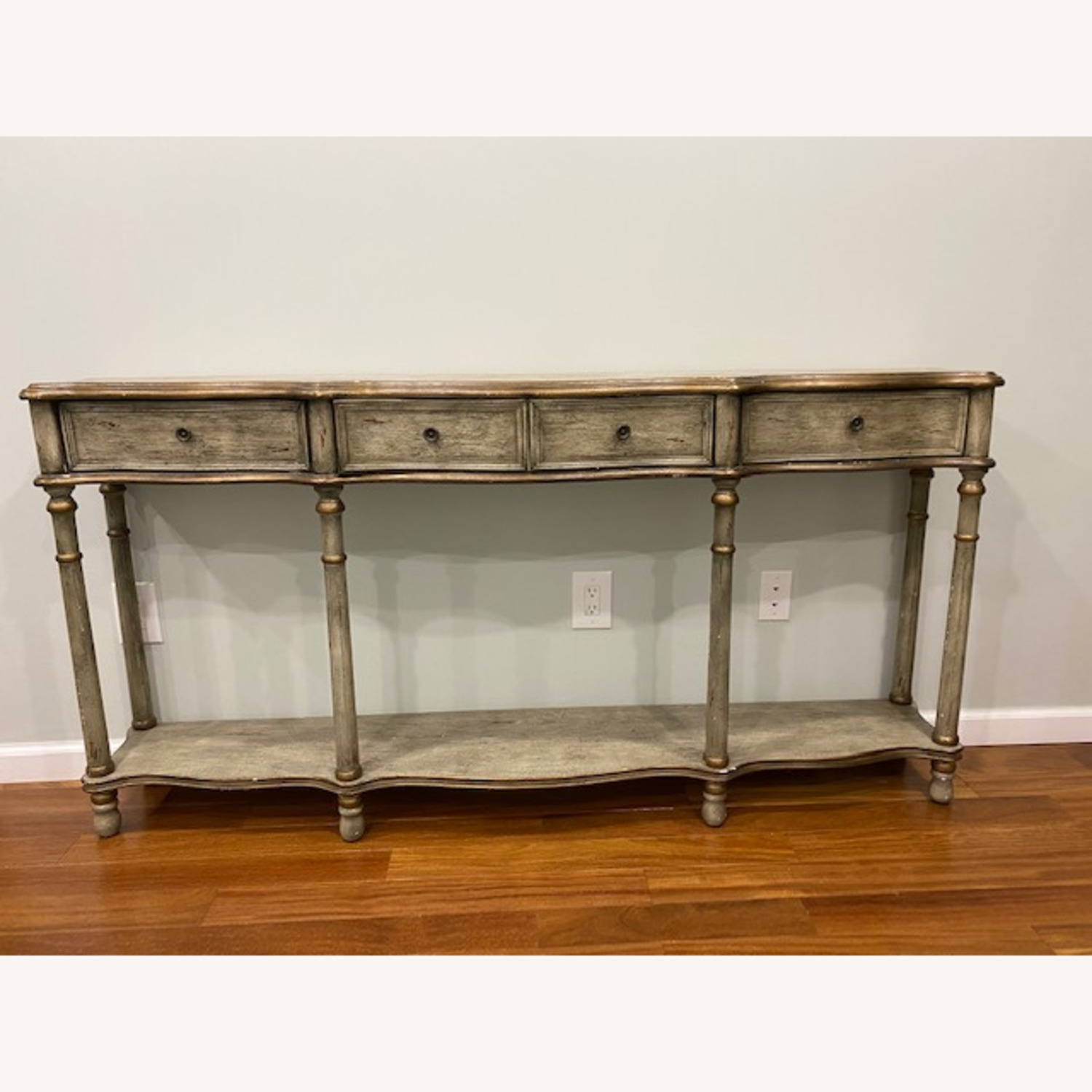 Crestview Collection Victoria 3 Drawers Console Table - image-1