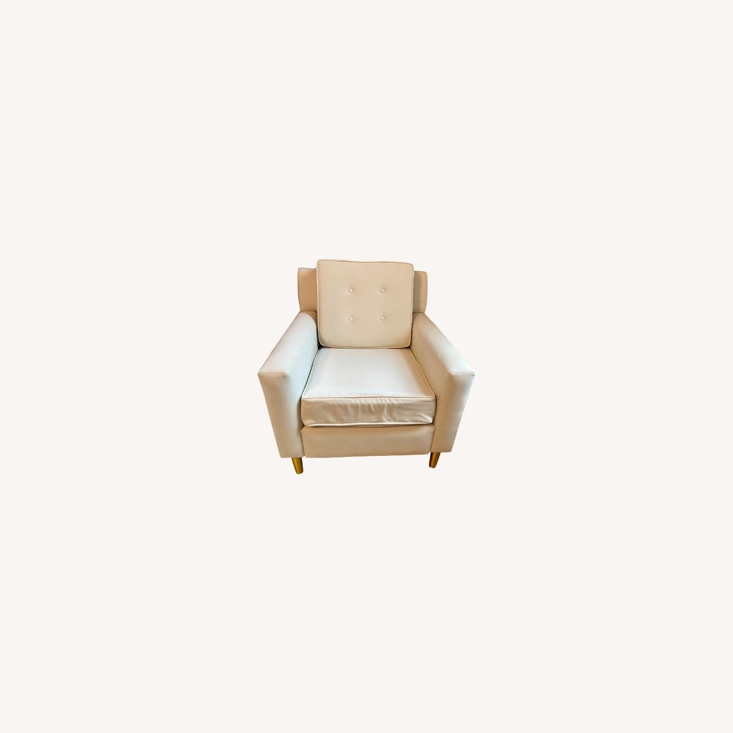 Velvet Chair in Dove with Gold Legs - image-0