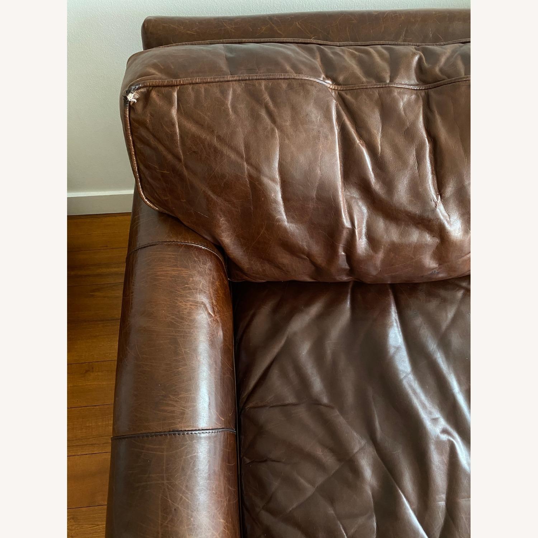 Restoration Hardware Petit Original Lancaster Leather Sofa - image-5