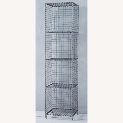 Used West Elm Mesh Storage Rack for sale on AptDeco
