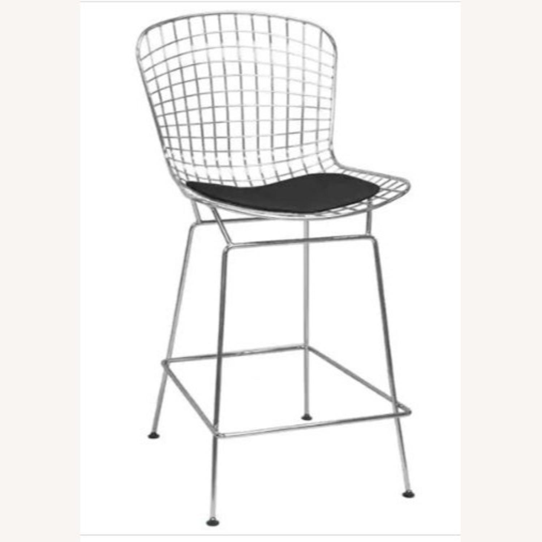 Brooklyn Cushioned Aluminum Bertoia Style Stool - image-1