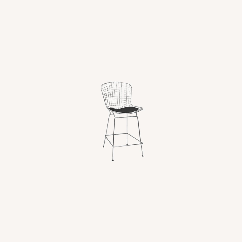 Brooklyn Cushioned Aluminum Bertoia Style Stool - image-0