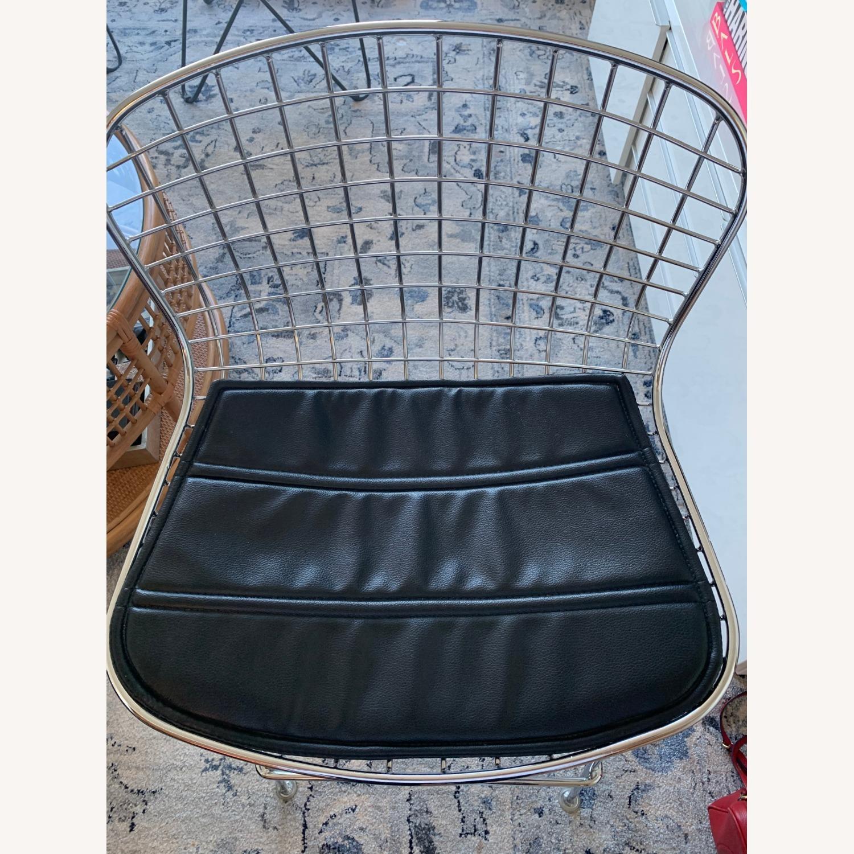 Brooklyn Cushioned Aluminum Bertoia Style Stool - image-4