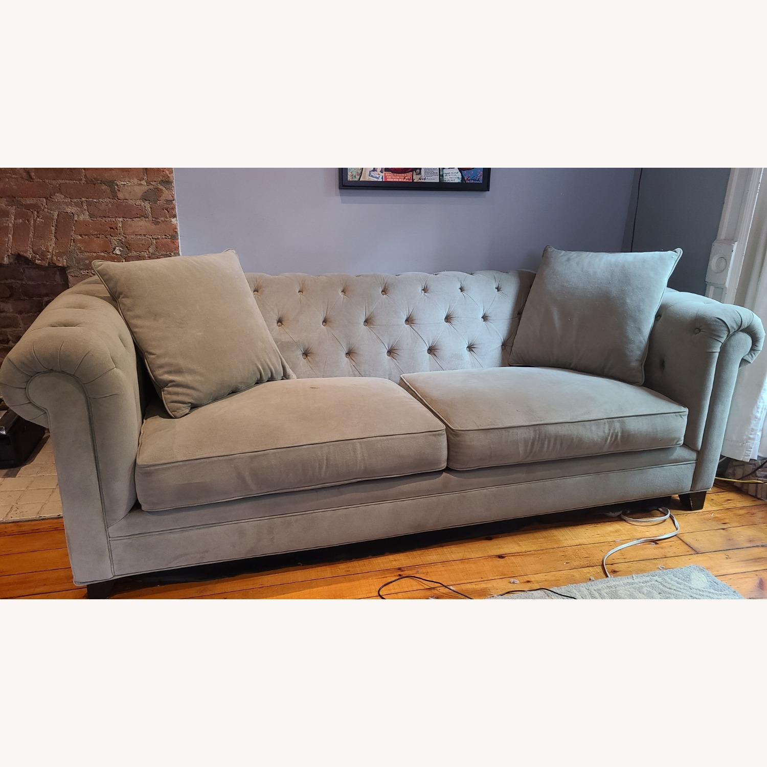 Martha Stewart Gray Saybridge 3 Seater Sofa - image-1