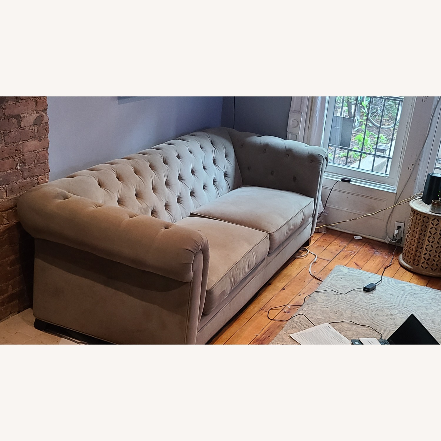 Martha Stewart Gray Saybridge 3 Seater Sofa - image-2