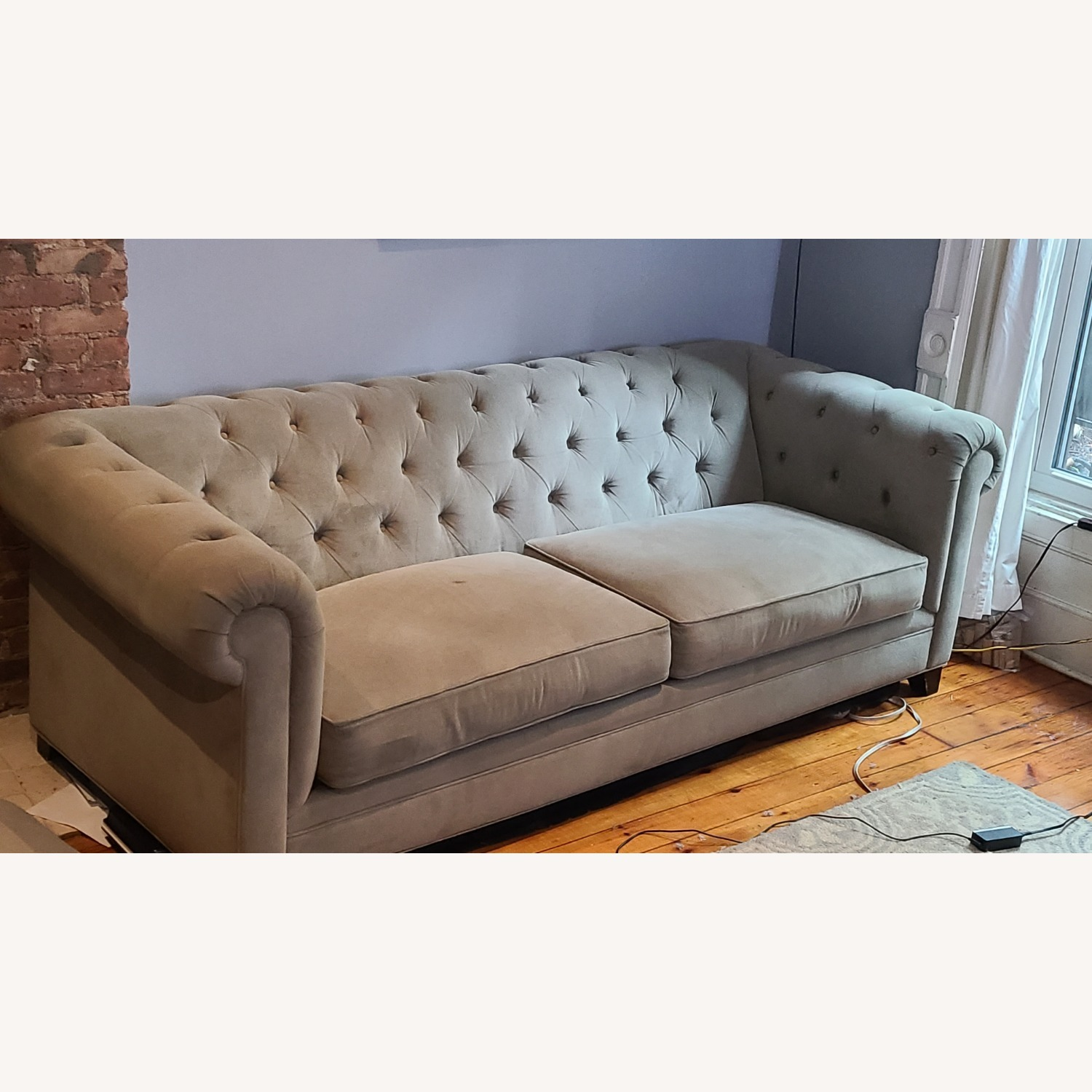 Martha Stewart Gray Saybridge 3 Seater Sofa - image-7