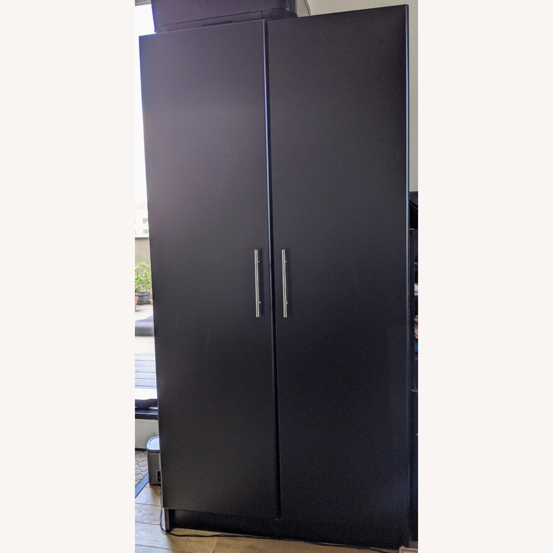Prepac Manufacturing Black Wardrobe Storage Cabinet - image-1