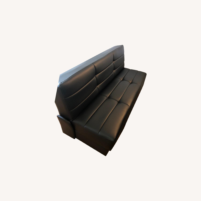 Star International Black Leather Futon & Sleeper Sofa - image-0