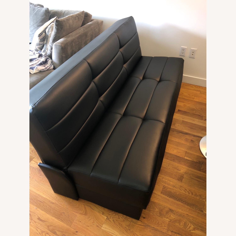 Star International Black Leather Futon & Sleeper Sofa - image-1