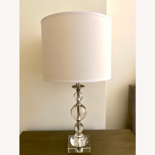 Used White Clear Lamp for sale on AptDeco