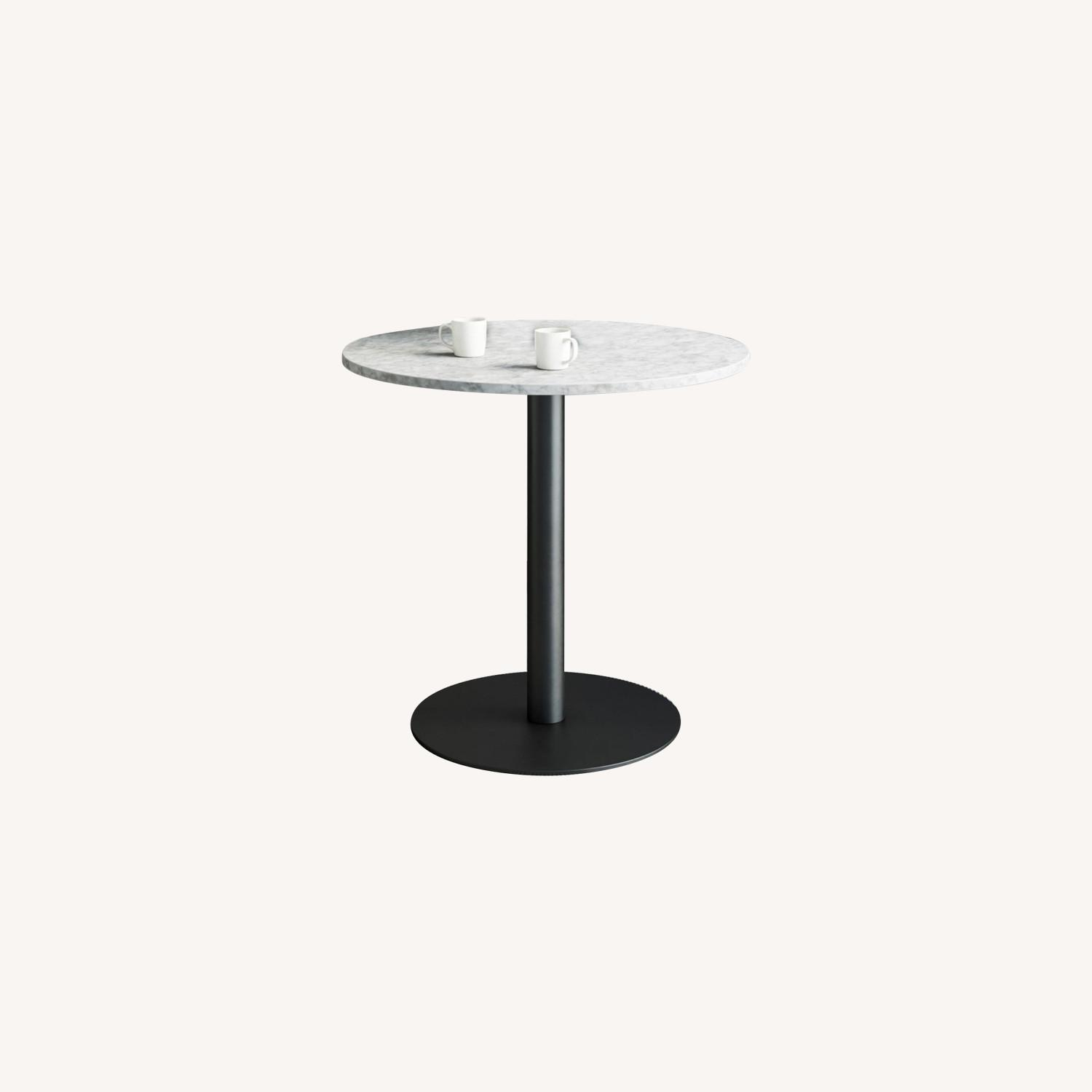 Faux Marble Bistro Table - image-0