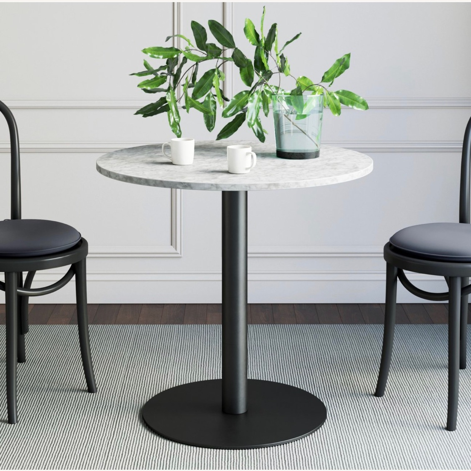Faux Marble Bistro Table - image-1