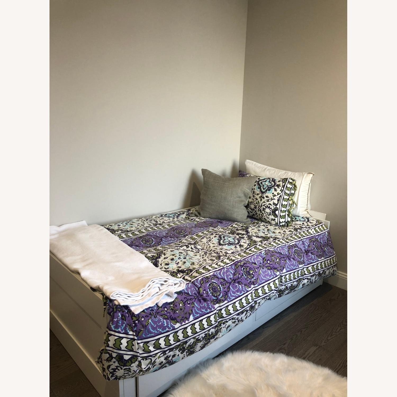 Ikea White Convertible Twin Bed Frame Aptdeco