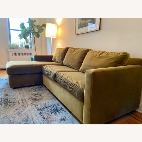 Used Crate & Barrel Custom Sleeper Sofa with Chaise for sale on AptDeco