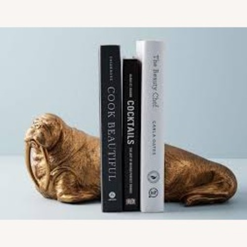 Used Anthropologie Walrus Bookends for sale on AptDeco