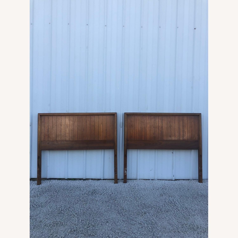 Mid Century Modern Walnut Twin Headboard by Lane - image-1