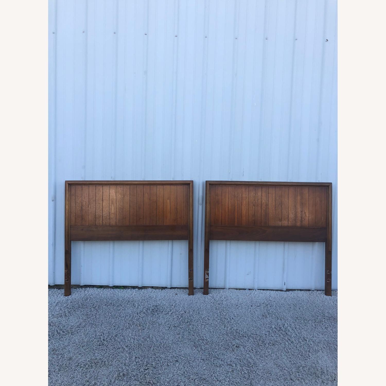 Mid Century Modern Walnut Twin Headboard by Lane - image-2