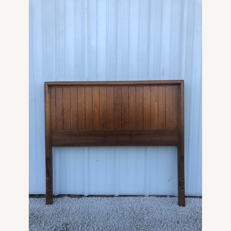 Mid Century Modern Walnut Twin Headboard by Lane - image-4