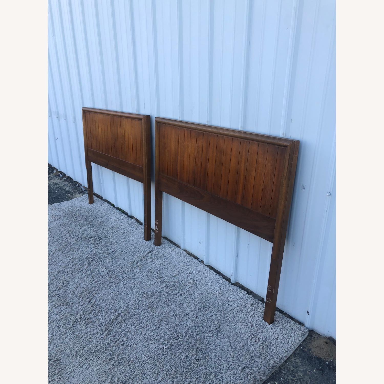 Mid Century Modern Walnut Twin Headboard by Lane - image-3