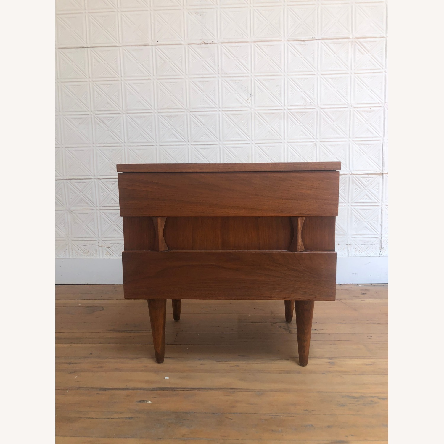 Mid Century Two Drawer Nightstand by Martinsville - image-1