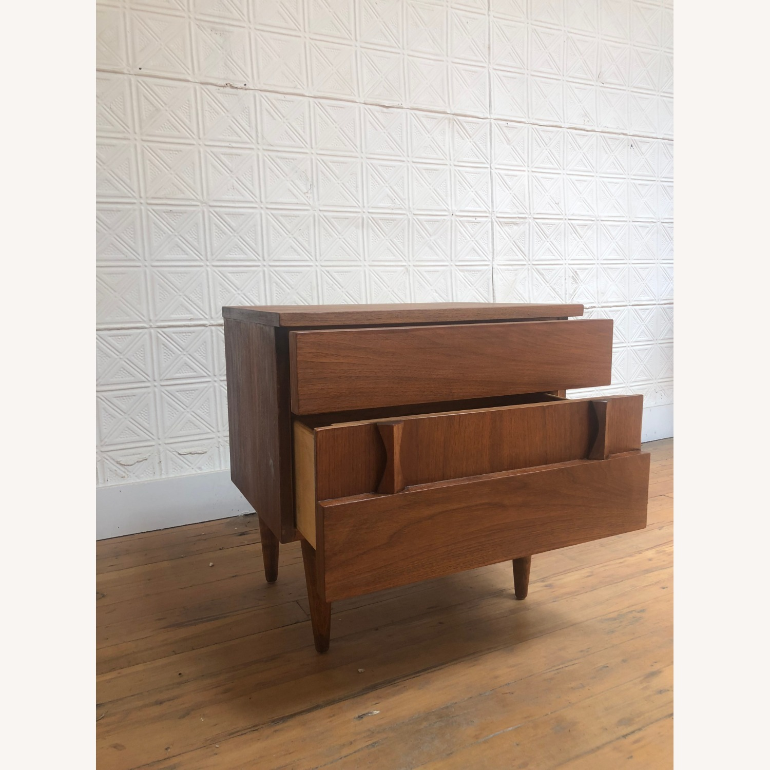 Mid Century Two Drawer Nightstand by Martinsville - image-10