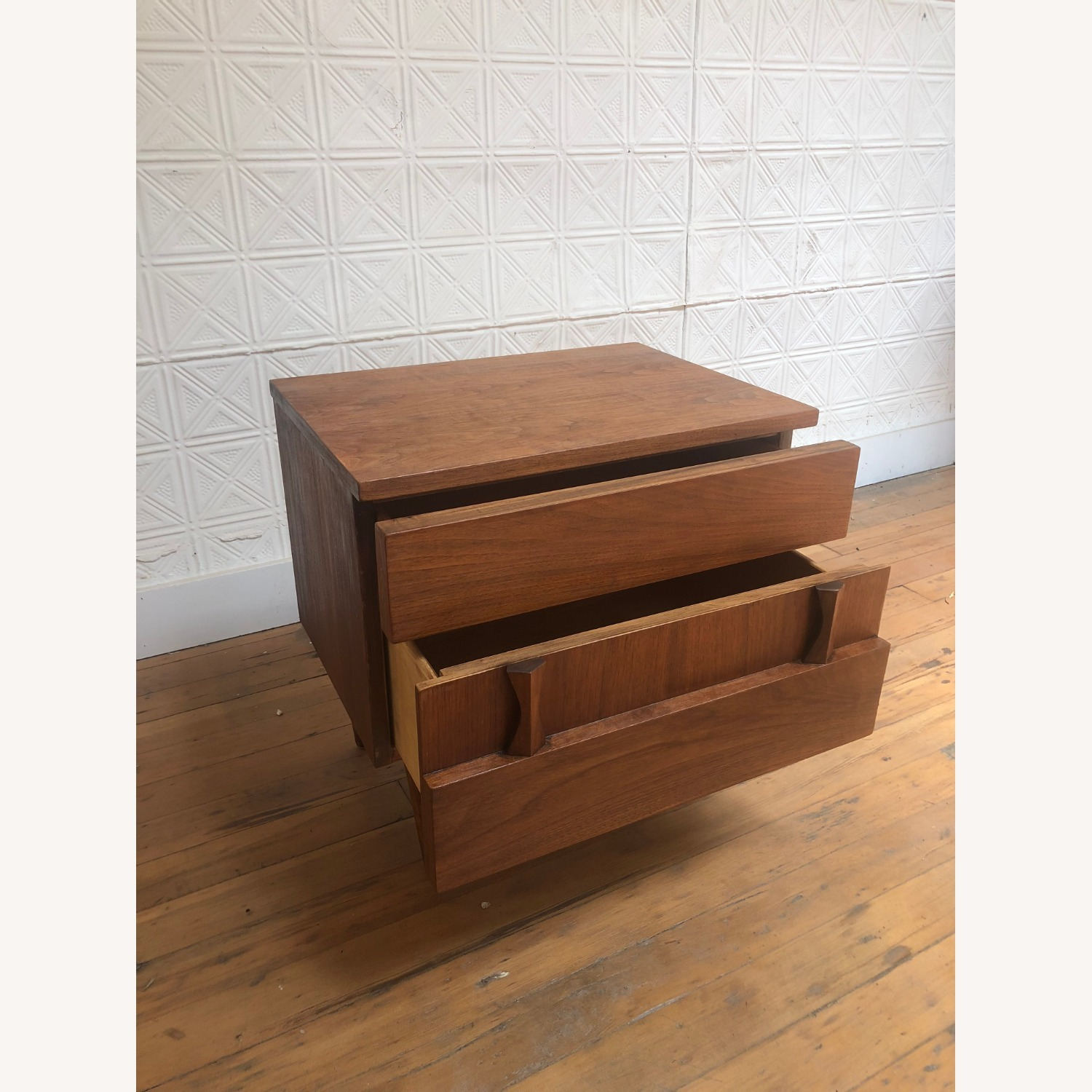 Mid Century Two Drawer Nightstand by Martinsville - image-11