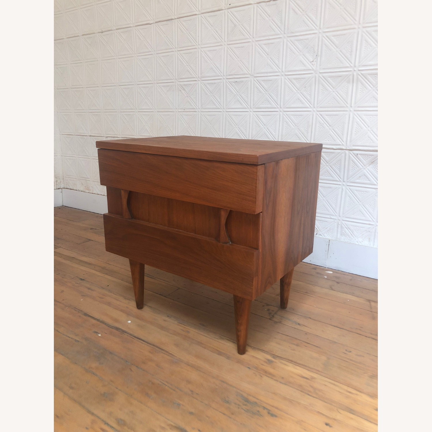 Mid Century Two Drawer Nightstand by Martinsville - image-5