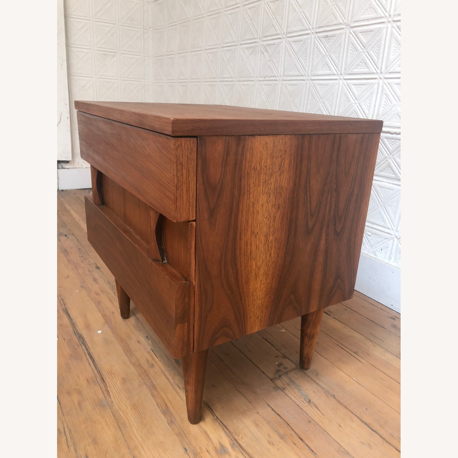 Mid Century Two Drawer Nightstand by Martinsville - image-6