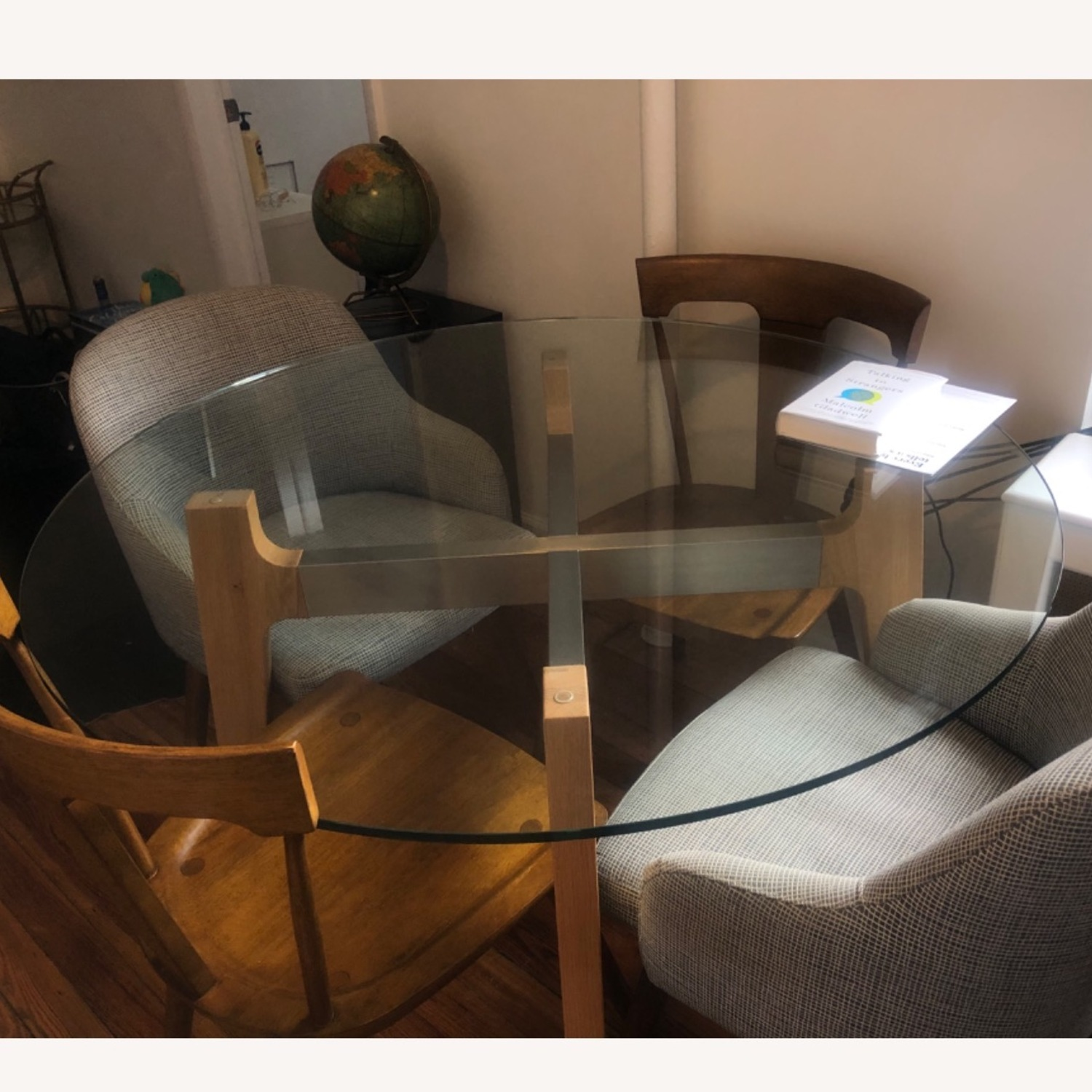 Crate and Barrel 48 Glass Table - image-2