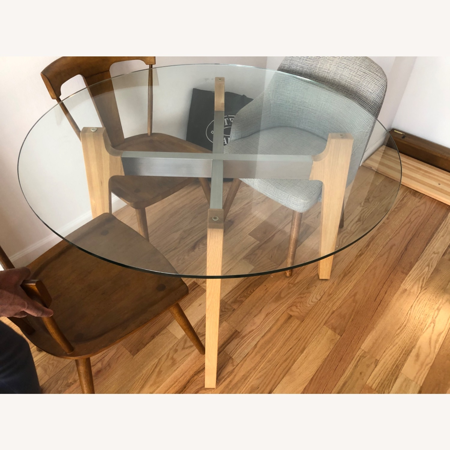 Crate and Barrel 48 Glass Table - image-8