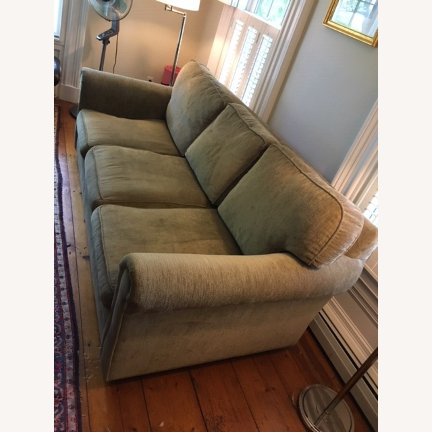 Restoration Hardware Tweed Sleeper Sofa - image-2