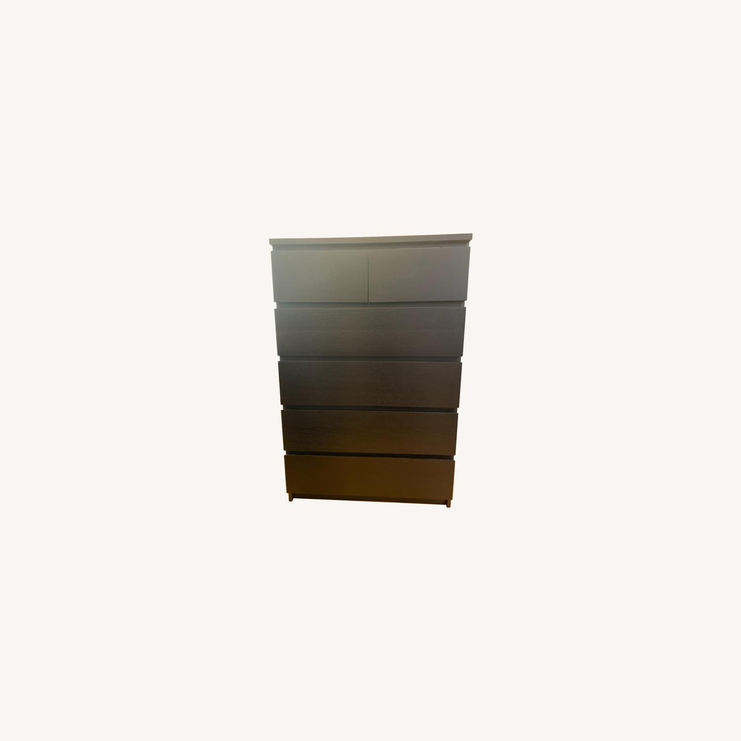 IKEA 6 Drawer Tall Dresser with Hooks - image-0