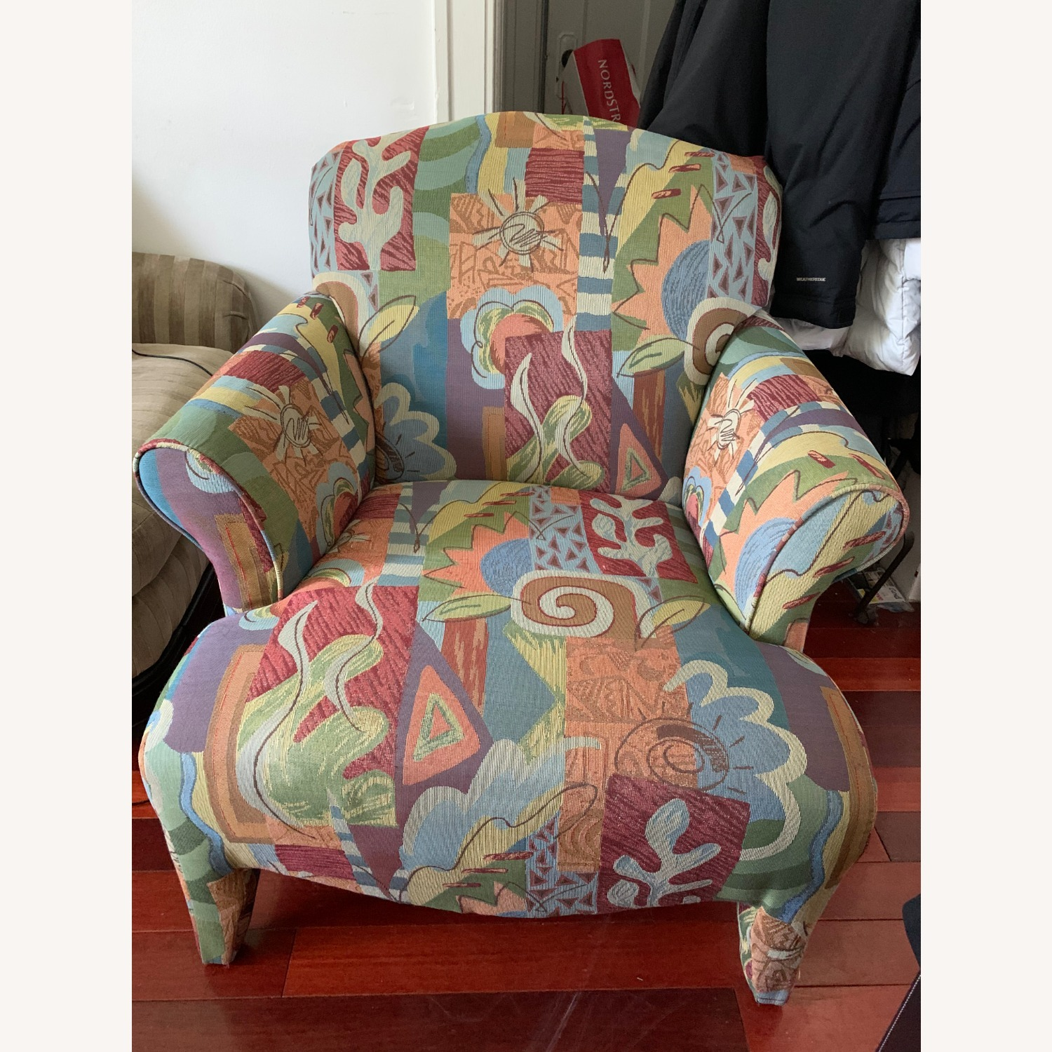 Multi-colored Accent Chair with Nature Patterns - image-0