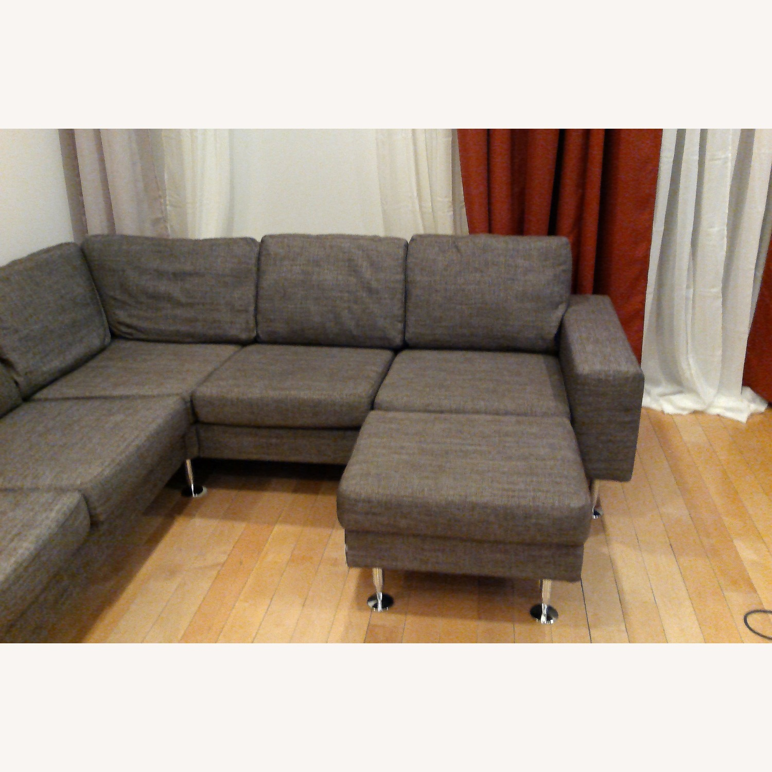 BoConcept 3 Piece Sectional Sofa with Ottoman - image-1