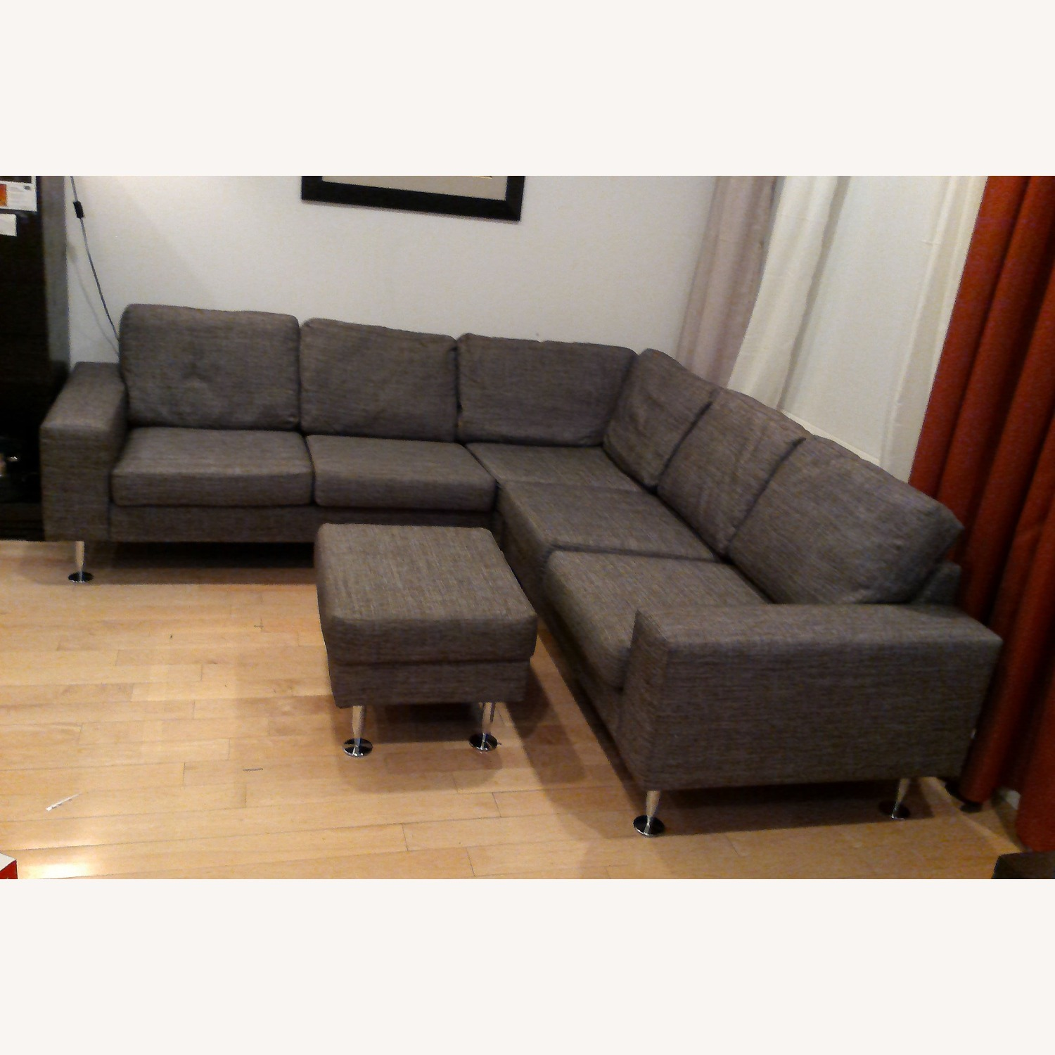 BoConcept 3 Piece Sectional Sofa with Ottoman - image-0