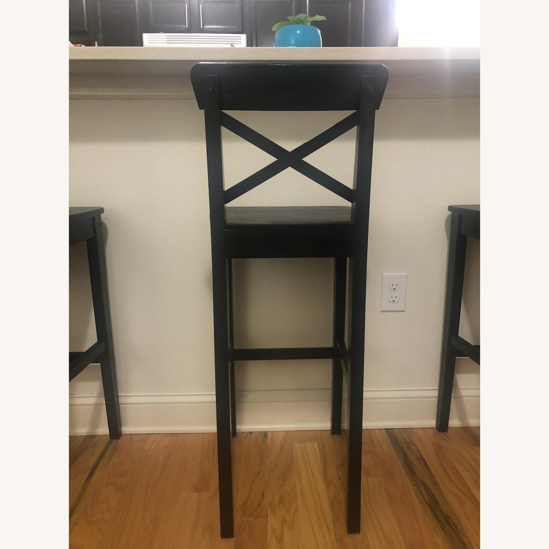 Set of 3 IKEA Ingolf Bar Height Stools - image-2
