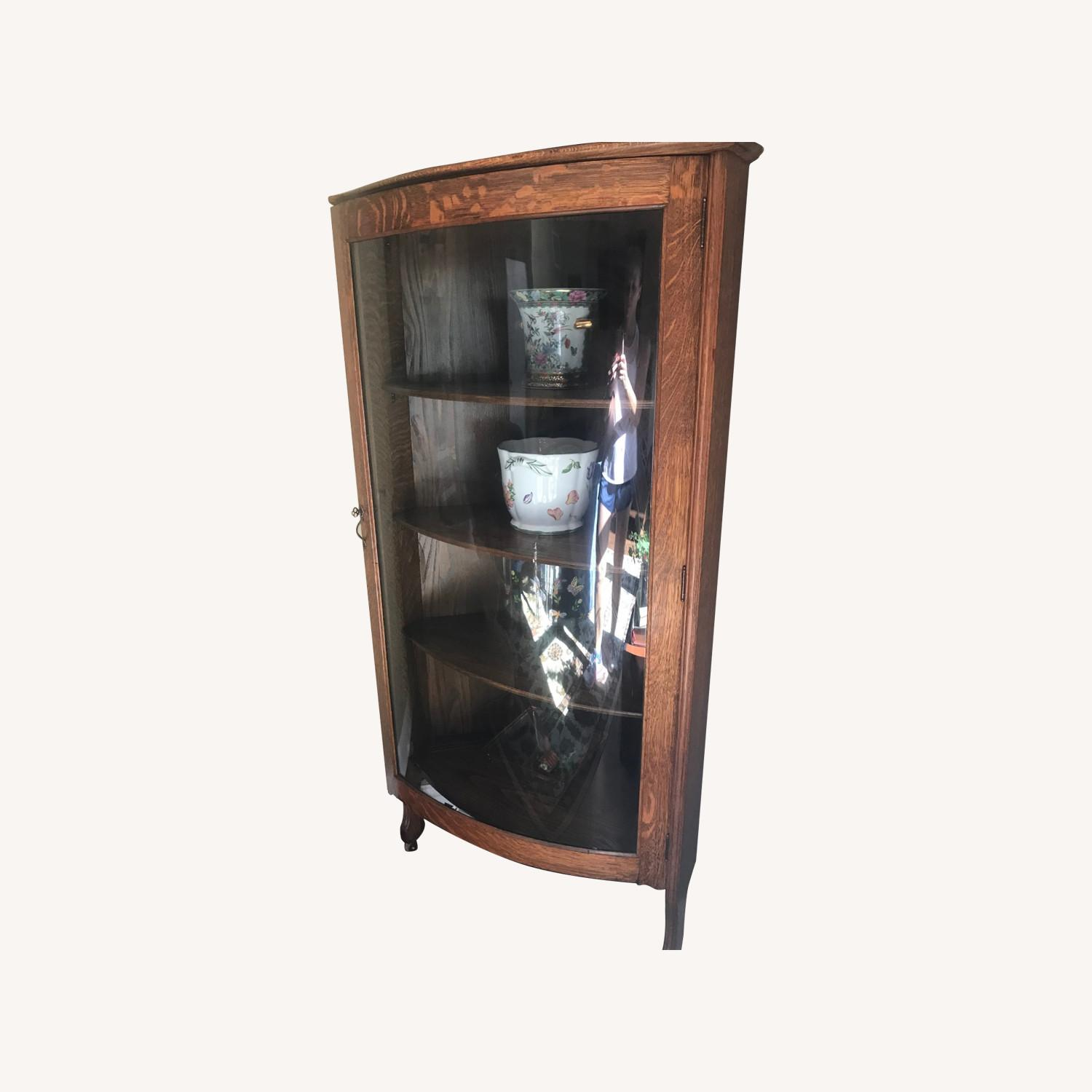Antique Corner Cabinet - image-0