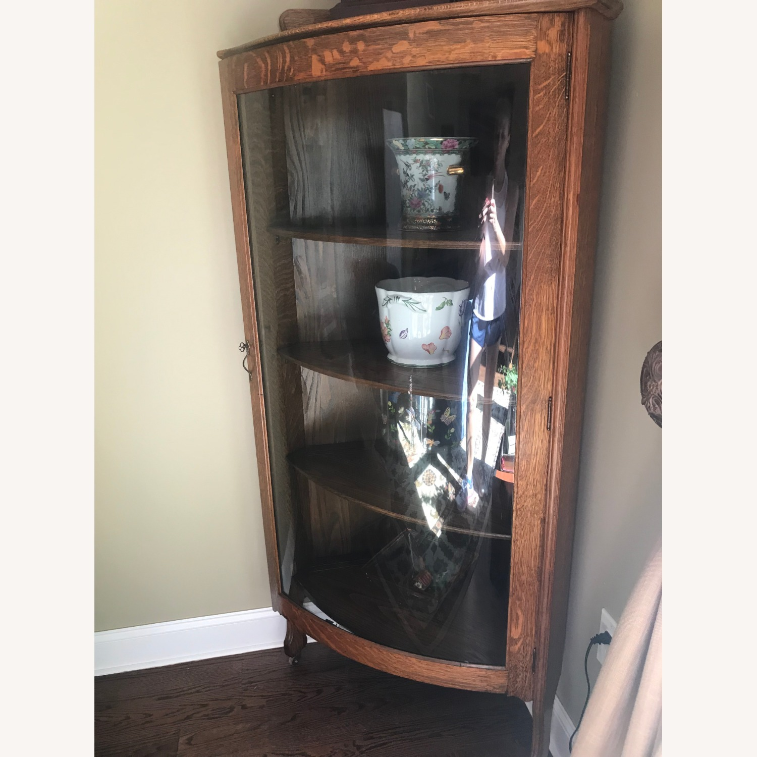 Antique Corner Cabinet - image-1