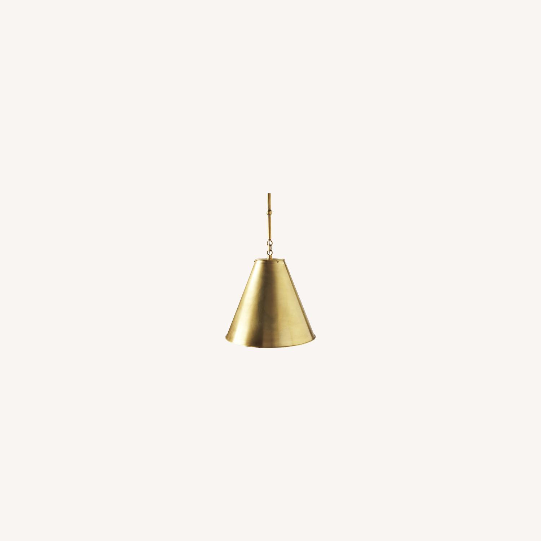 Visual Comfort Goodman Large Brass Pendant - image-0