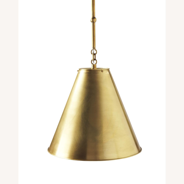 Visual Comfort Goodman Large Brass Pendant - image-1