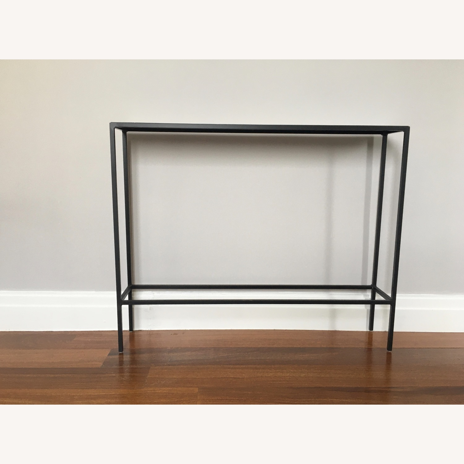 Room & Board Slim Console Table Natural Steel - image-1