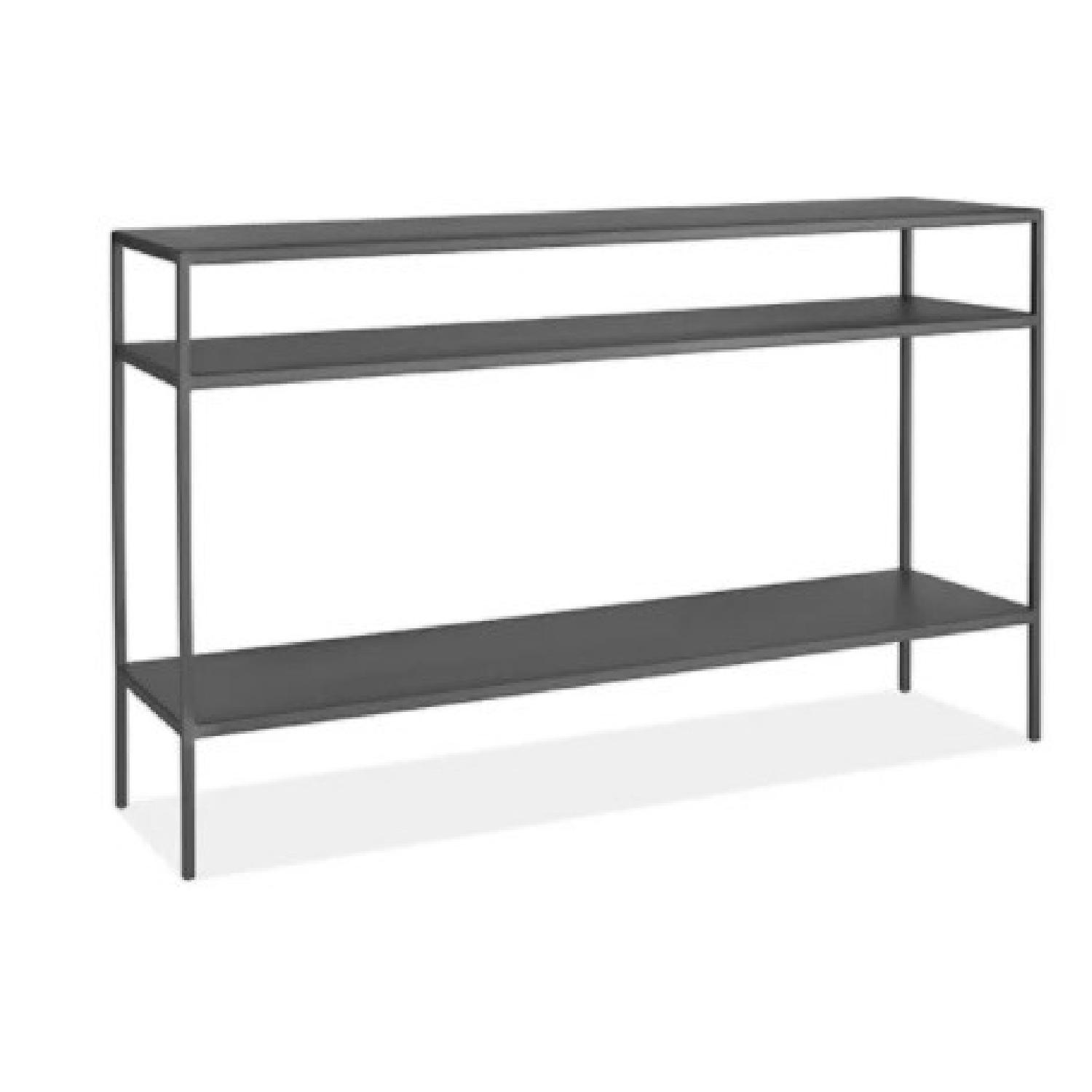 Room & Board Slim Console Table Natural Steel - image-0