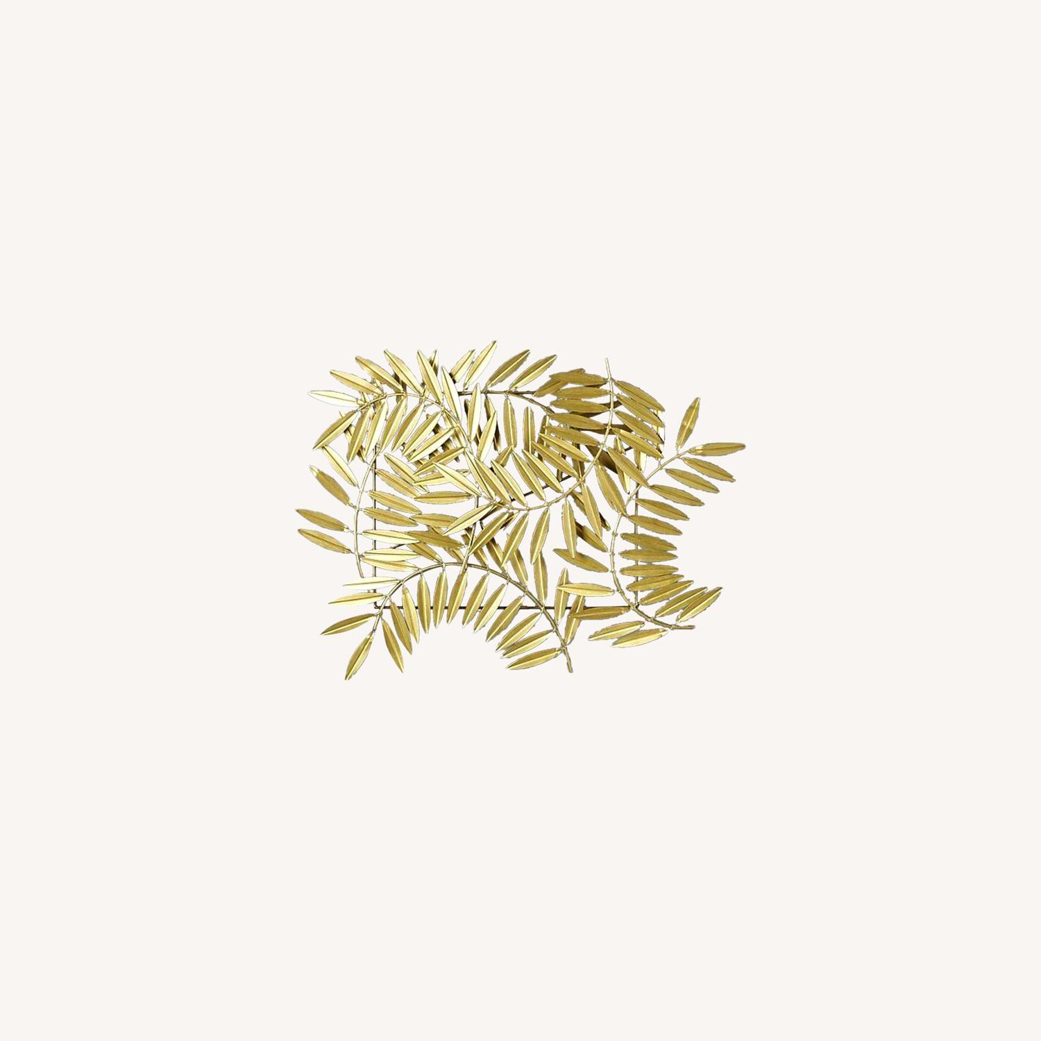 CB2 Ceres Leaves Wall Decor Gold - image-0