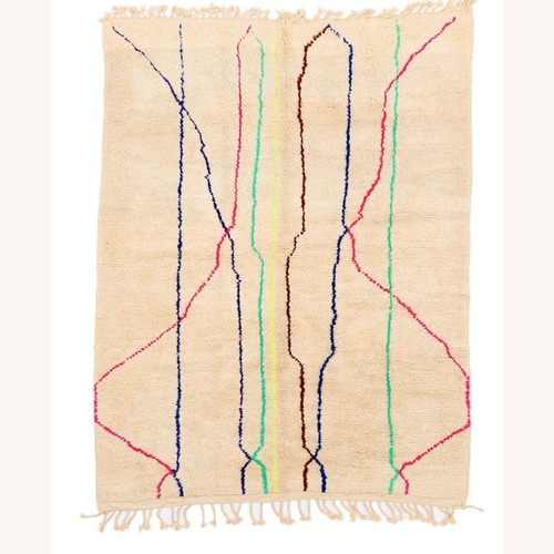 Used Neon Striped Moroccan Rug for sale on AptDeco